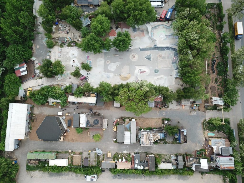 Platzprojekt Luftaufnahme